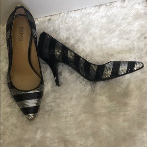 Michael Kors size 7 black and silver heels